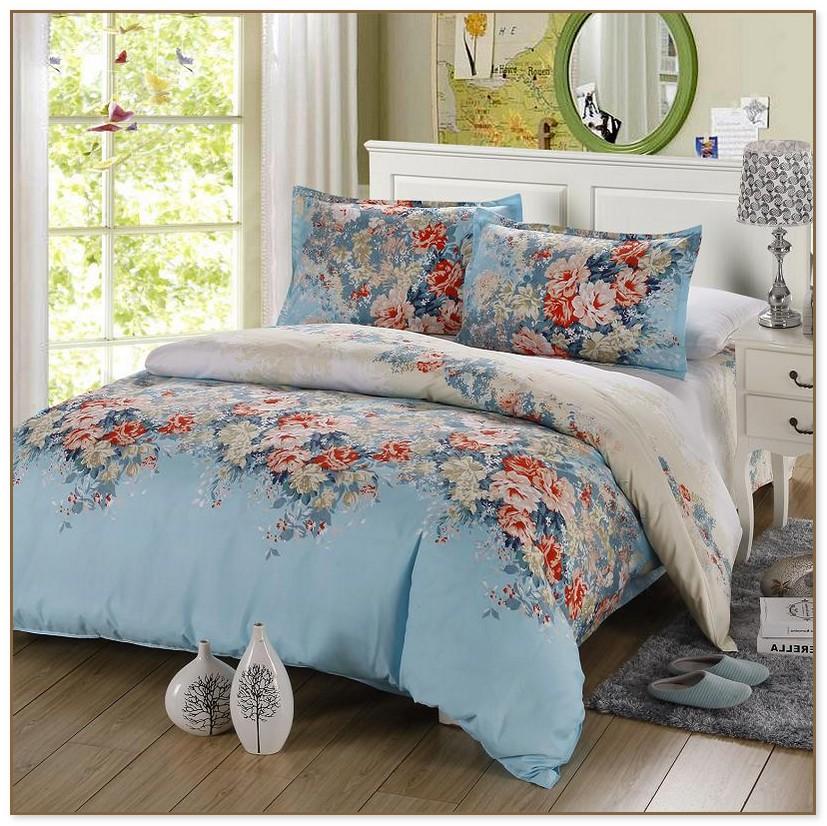 Blue Floral Comforter Sets