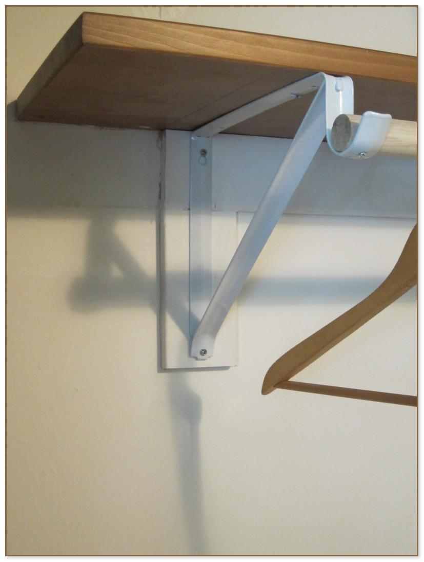 Closet Shelf With Hanging Rod