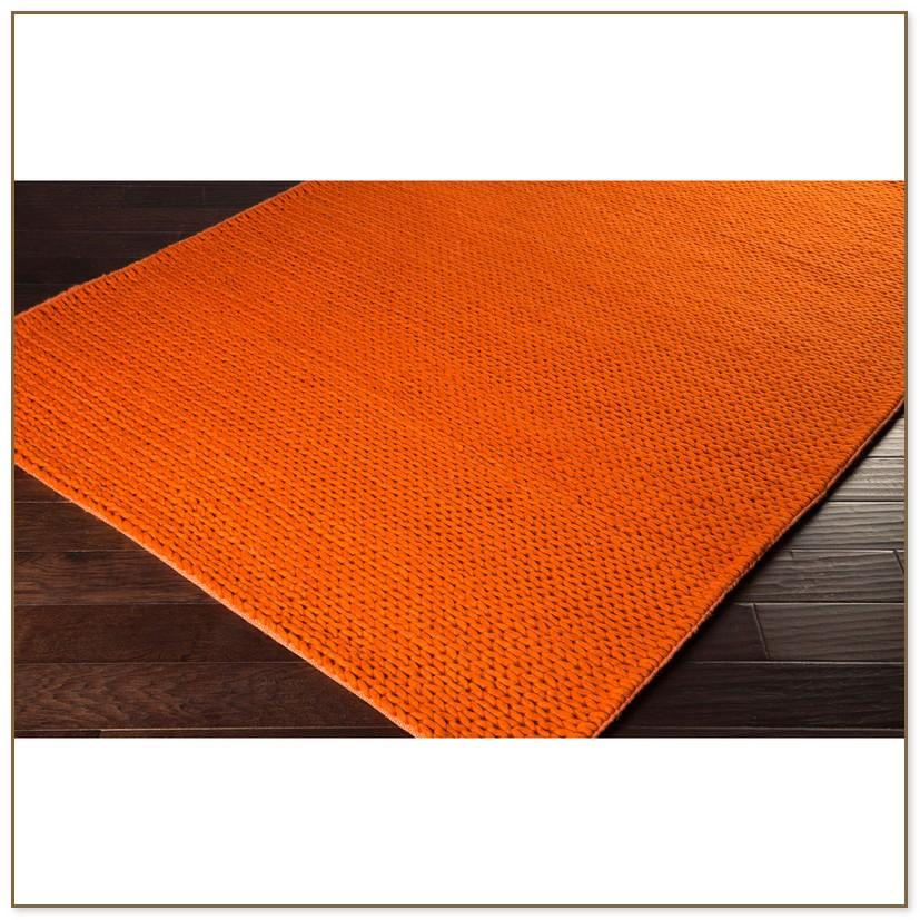 Orange bathroom rugs