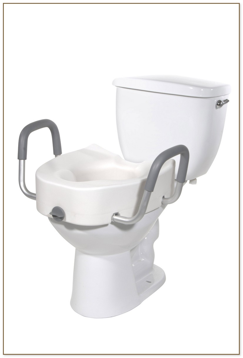 Elevated Toilet Seat With Handles