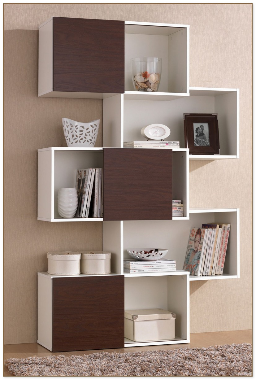 Modern Bookcase With Doors