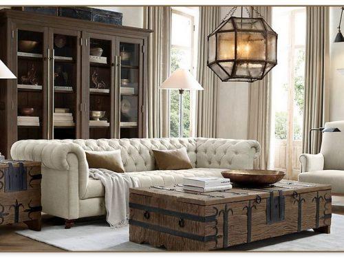 Restoration Hardware Living Rooms