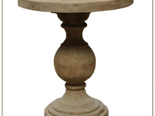 Wooden Pedestal Table Base