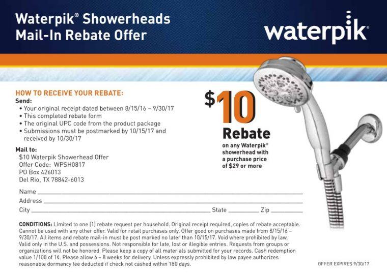 Waterpik Shower Head Coupon