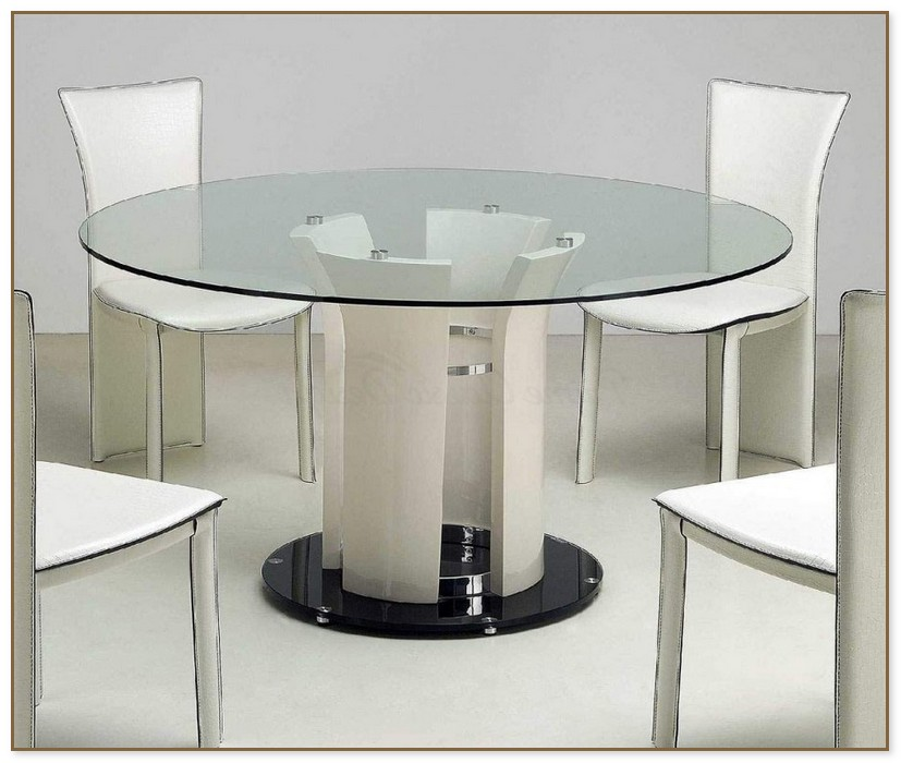 60 Inch Round Glass Top Dining Table