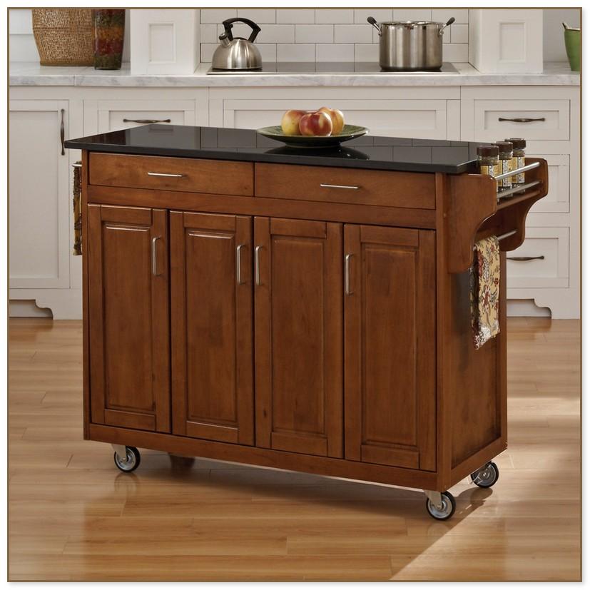 Black Kitchen Island Cart