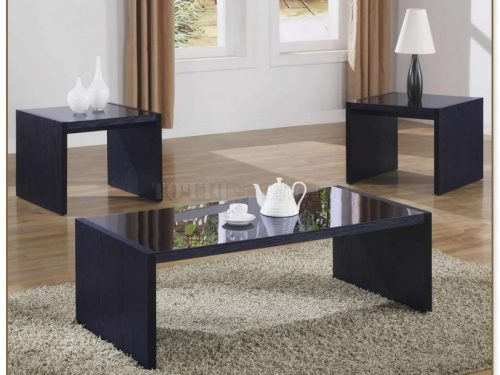 Black Living Room Table Set
