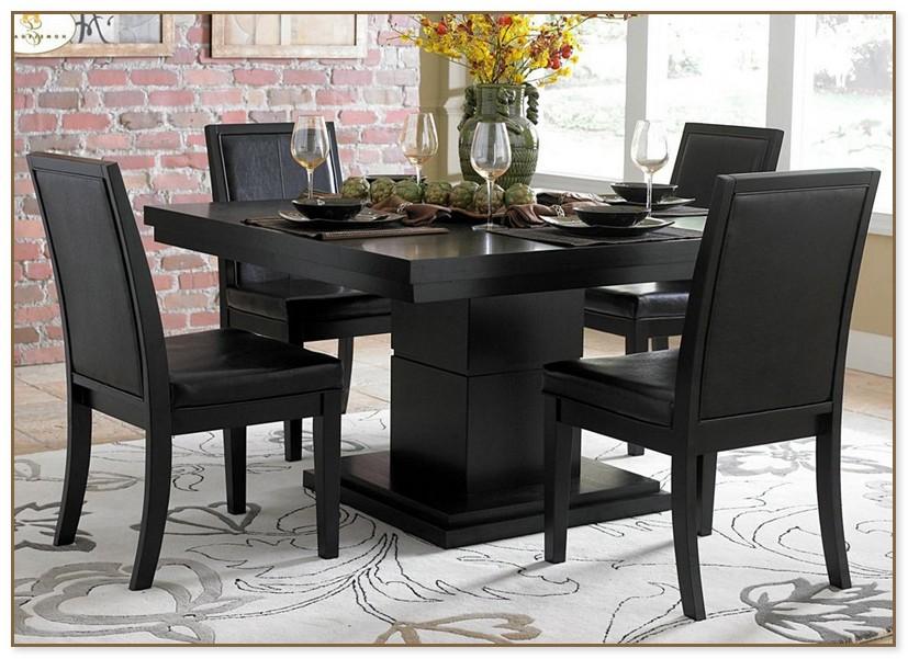 Black Pedestal Dining Table