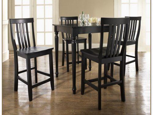 Black Pub Table Set