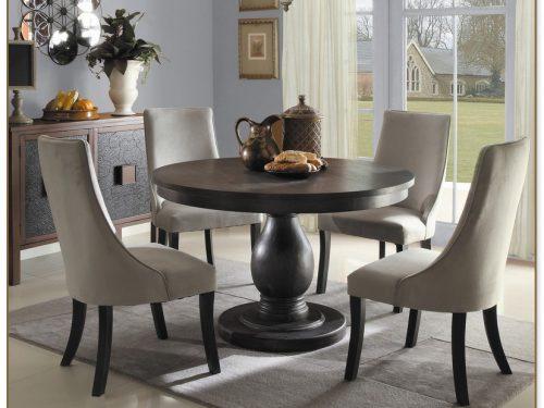 Black Round Dining Table Set