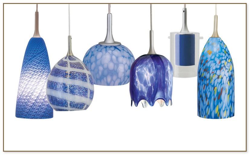 Blue Glass Pendant Lights
