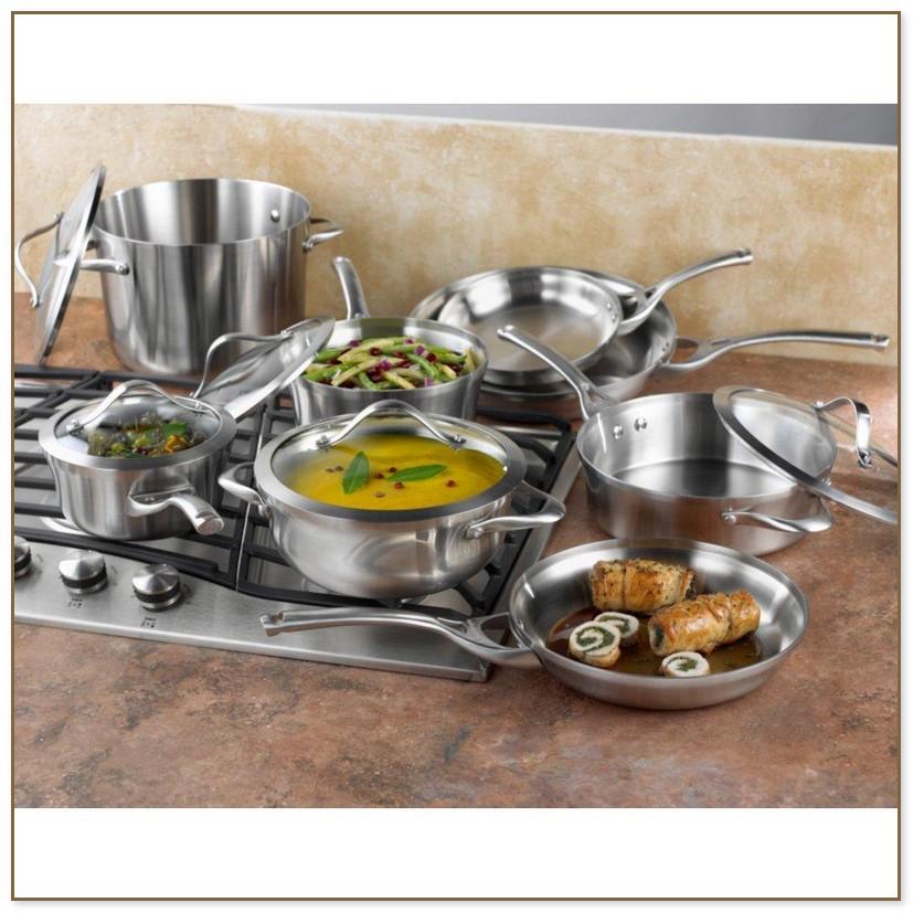 Calphalon Contemporary Stainless Steel 13 Piece Cookware Set