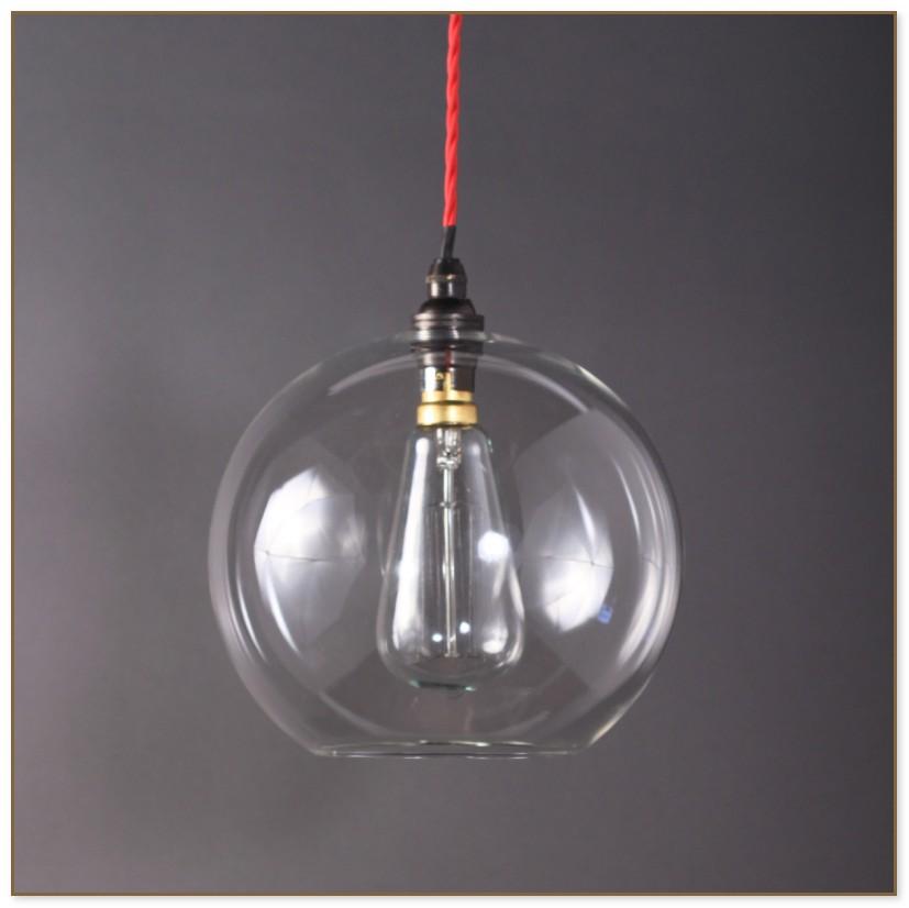 Clear Glass Globe Pendant Light