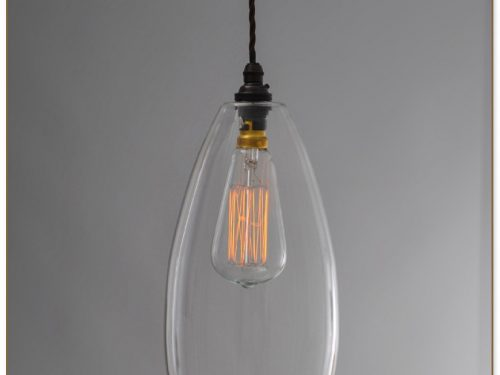 Clear Glass Pendant Light Shade