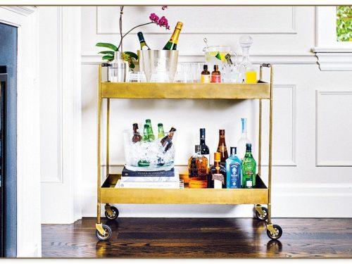 Crate And Barrel Bar Cart