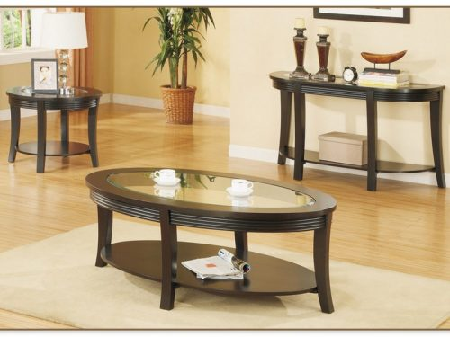 Espresso Coffee Table Set