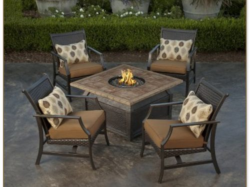 Fire Table Patio Set