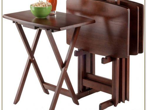 Folding Tray Table Set