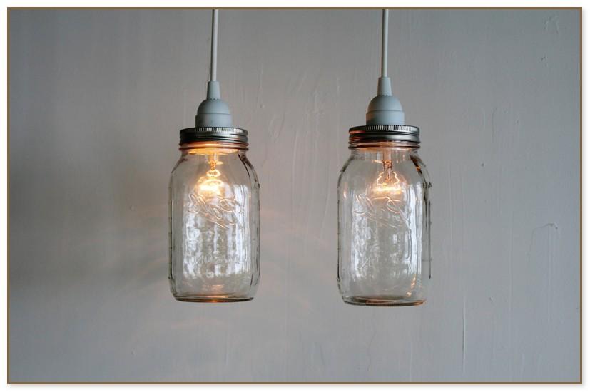 Glass Jar Pendant Light