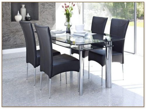 Glass Kitchen Table Sets