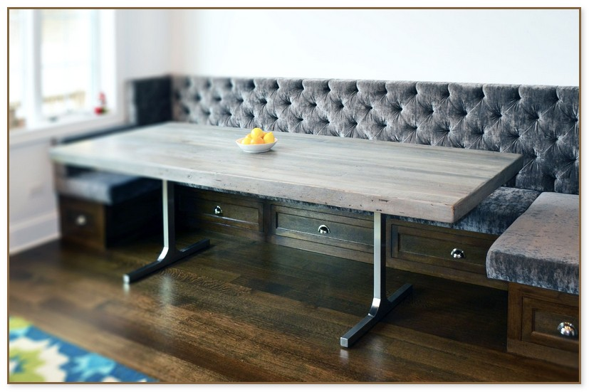 Grey Rustic Dining Table