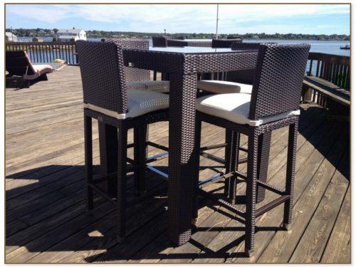 High Top Patio Table Set