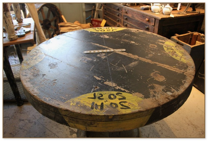 Industrial Round Dining Table