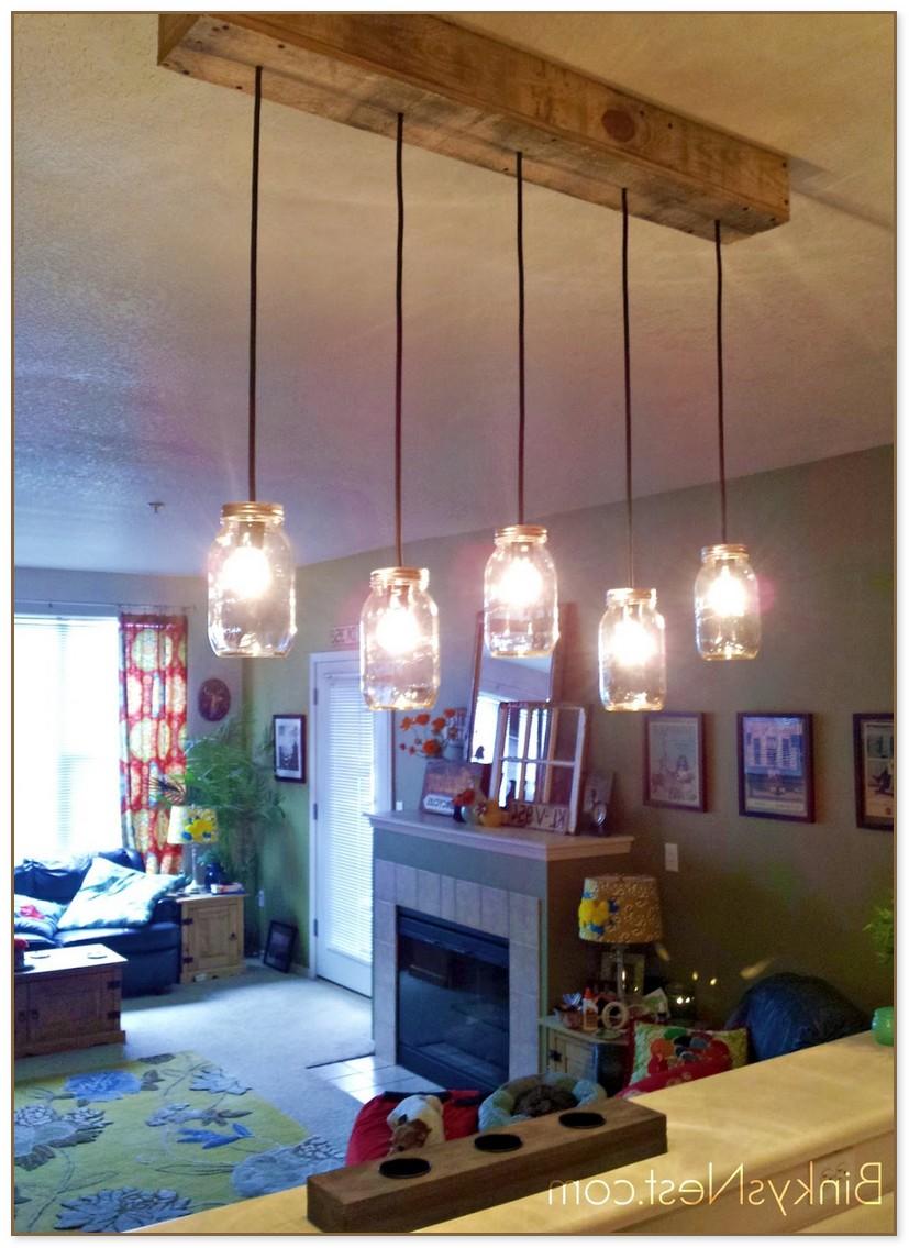 Mason Jar Pendant Light Diy