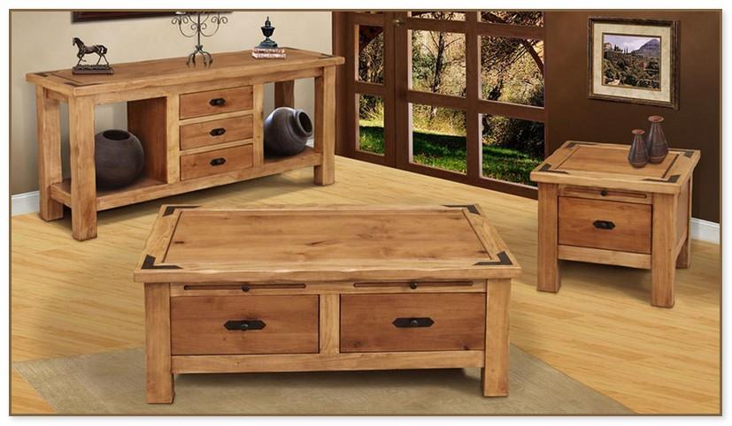 Oak Coffee Table Set