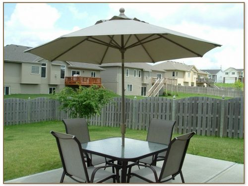 Patio Table Set With Umbrella