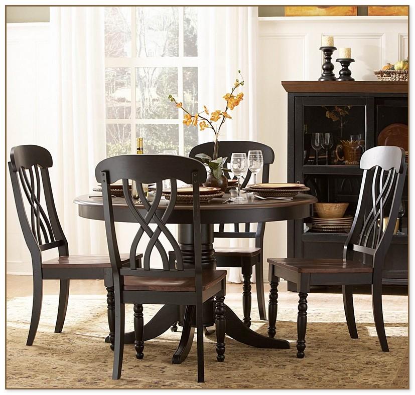 Round Pedestal Dining Table Set