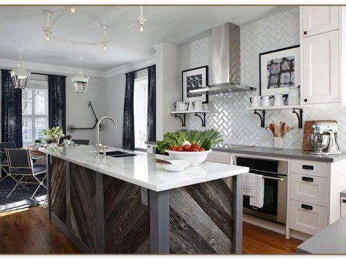 Rustic Wood Kitchen Island