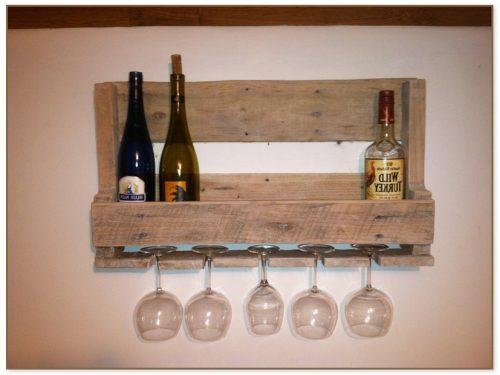 Small Wood Wine Rack