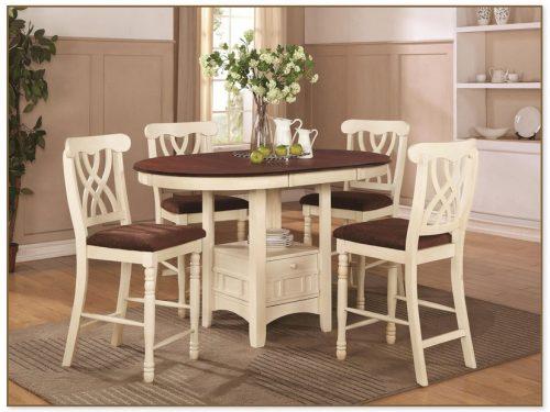 White Pub Table Set