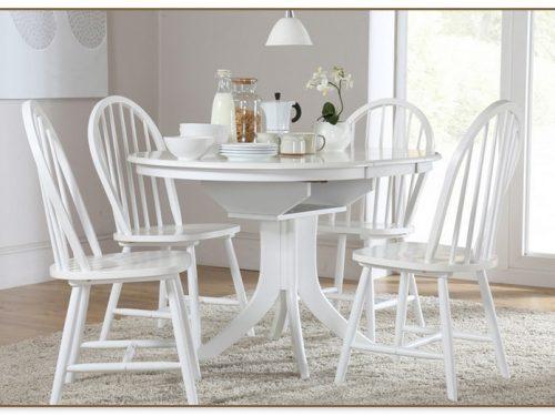 White Round Kitchen Table Set