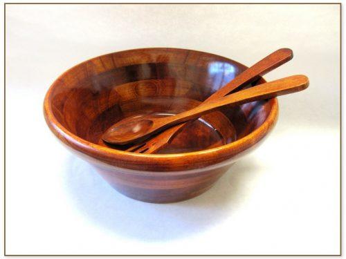Wood Salad Bowl Set