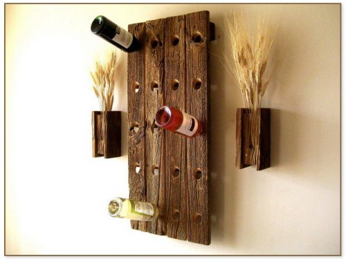 Wooden Wine Rack For Wall