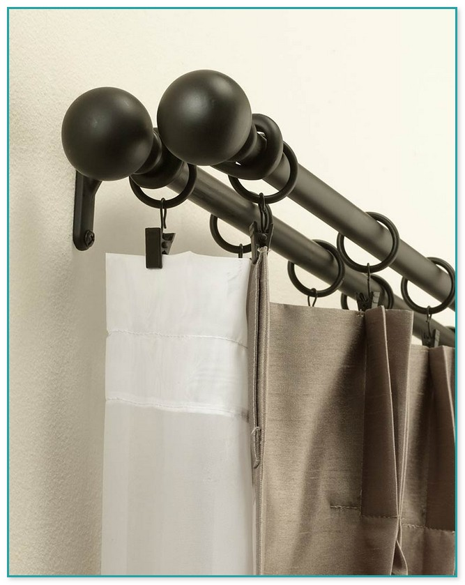 200 Inch Double Curtain Rod