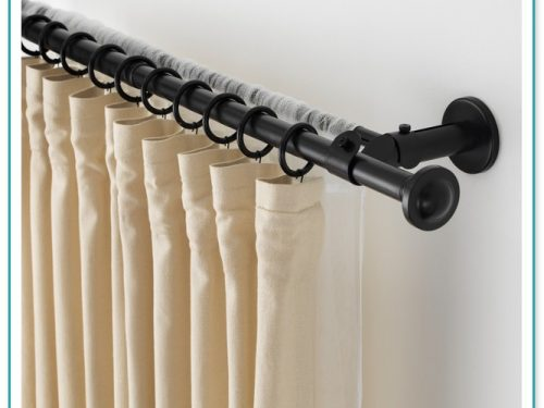 8 Foot White Wood Curtain Rod