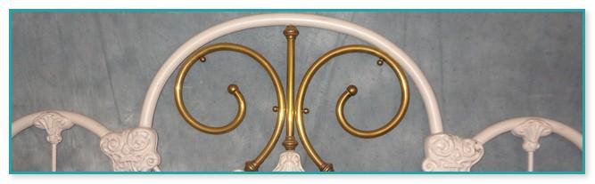 Antique Cast Iron Queen Bed