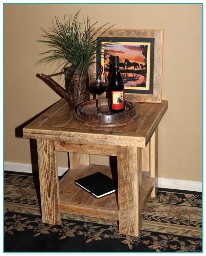 Barn Wood End Tables Idea