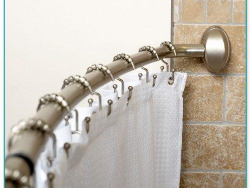 Bowed Shower Curtain Rod Installation