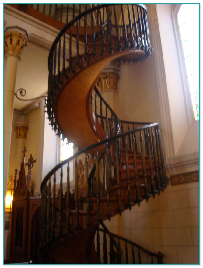 Church In New Mexico With Spiral Staircase