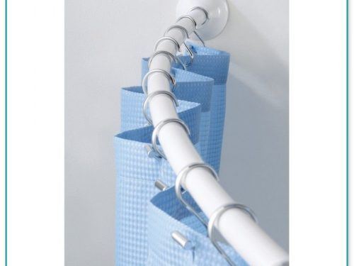 Croydex Luxury Curved Shower Curtain Rod Maximum Length 2000mm Chrome