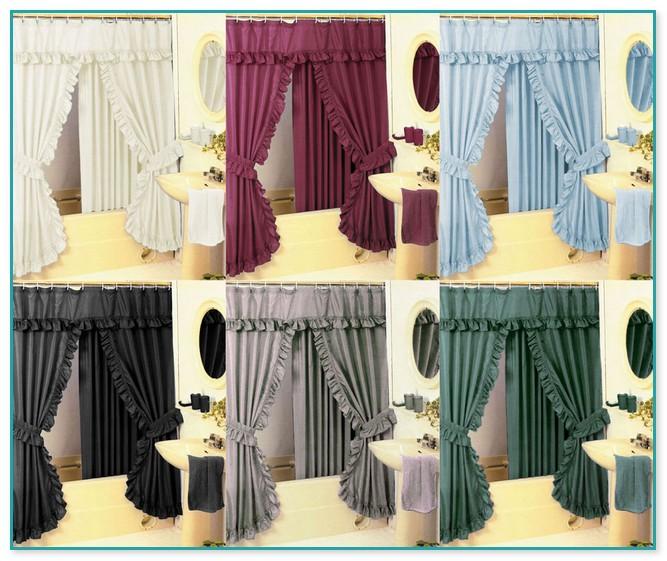 Double Swag Shower Curtains Uk Curtain Menzilperde Net
