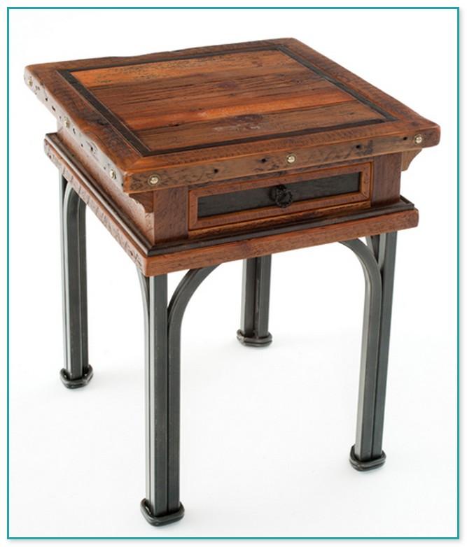 Elegant Barn Wood End Tables