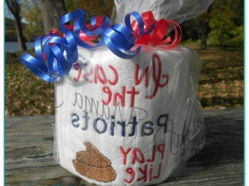 Gorgeous New England Patriots Toilet Paper