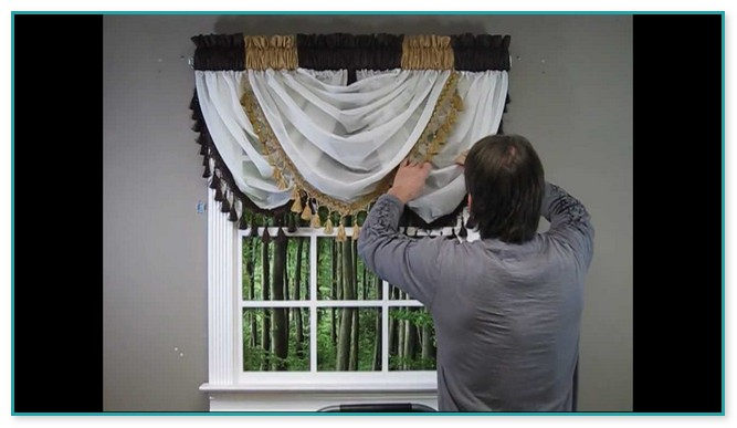 Hang Swag Curtains With Knots At Corners