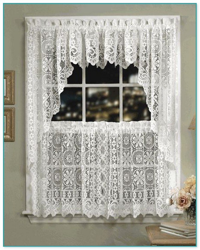 Lace Swag Curtains Kitchen