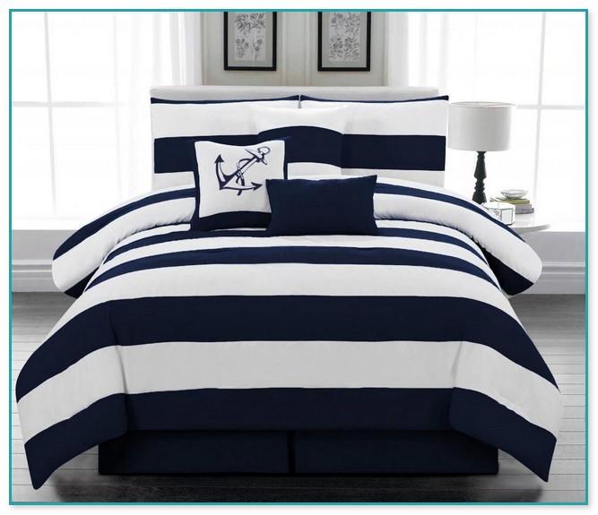 Navy Blue Comforter Sets Queen
